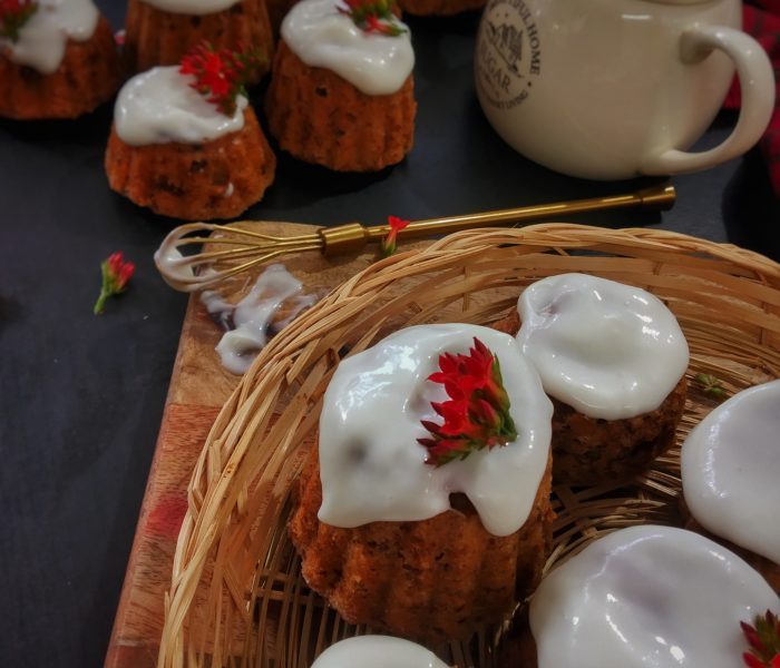 Strawberry Muffins with Cream Cheese Glaze