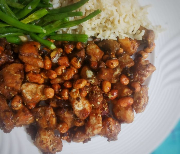 Peanuts and Sesame Chicken
